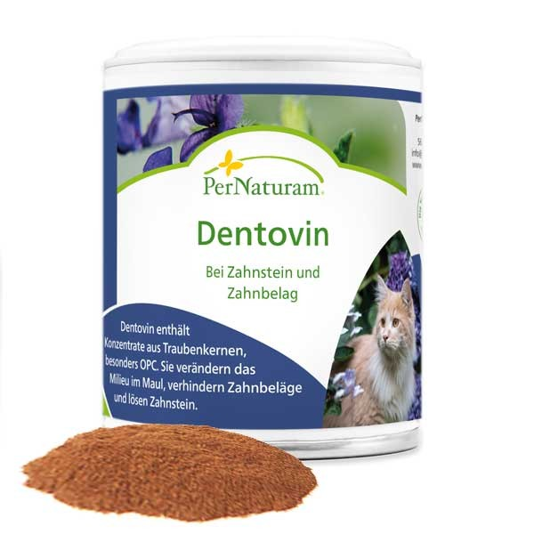 Dentovin gegen Zahnstein bei Katzen von PerNaturam