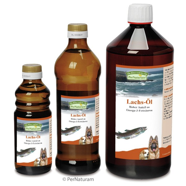 Reines Lachs-Öl von PerNaturam mit hochkonzentrierten Omega-3-Fettsäuren