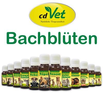 Wertvolle Bio-Bachblüten für Hunde, Katzen, Pferde von cdVet