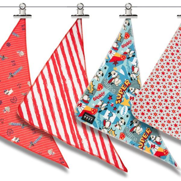 Hunde-Halstücher aus Baumwolle in tollen Designs von Knauders Best