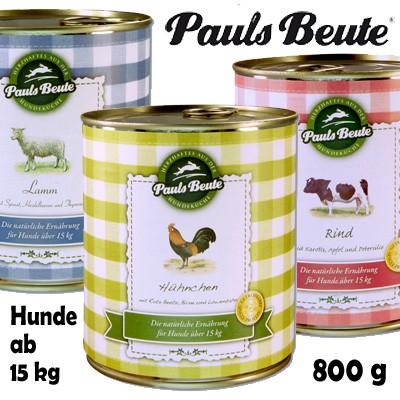 Pauls Beute getreidefreies Dosenfutter für Hunde ab 15 kg