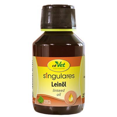 Kaltgepresstes Singulares Leinöl mit viel Omega-3 von cdVet