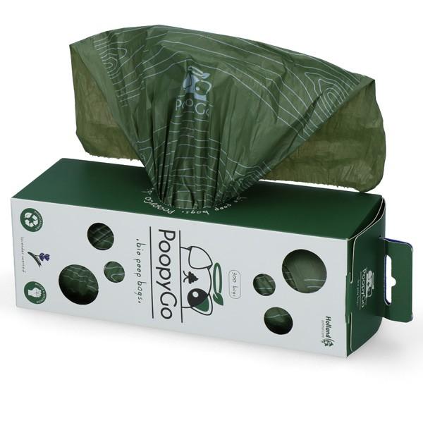 PoopyGo Tissue Box 300 Stk. umweltfreundliche Gassibeutel mit Lavendelduft
