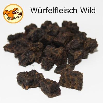 Würfelfleisch Wild getrocknet aus 100 % Frischfleisch Hirsch Reh