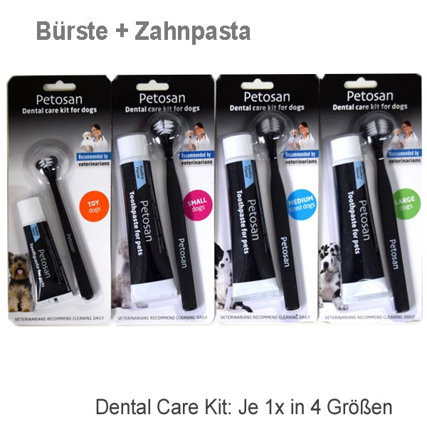 Dental Care Kit Zahnbürste und Zahnpasta für Hunde von Petosan