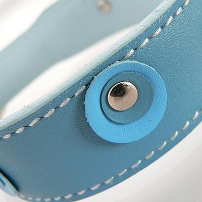 Hamish McBeth Leder-Halsband Moet Blue
