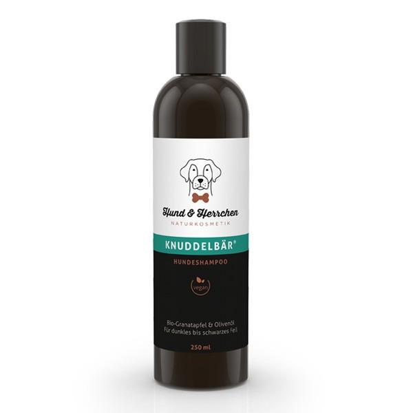Knuddelbär Hundeshampoo für dunkles Fell von Hund & Herrchen