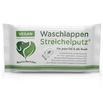 Waschlappen Streichelputz für die sanfte Hundepflege von Hund & Herrchen