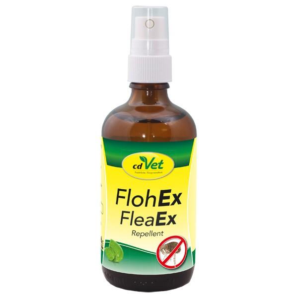 FlohEx Spray von cdVet zur natürlichen Bekämpfung von Flöhen am Hund