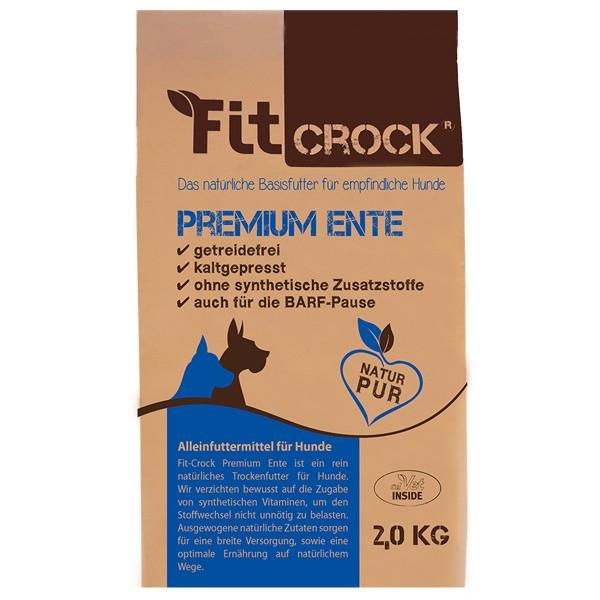 Fit-Crock Premium Ente - kaltgepresstes getreidefreies Trockenfutter von cdVet