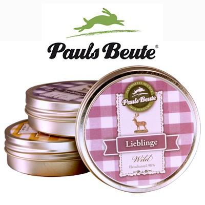 Pauls Beute Fleisch-Lieblinge in der praktischen Leckerli-Dose
