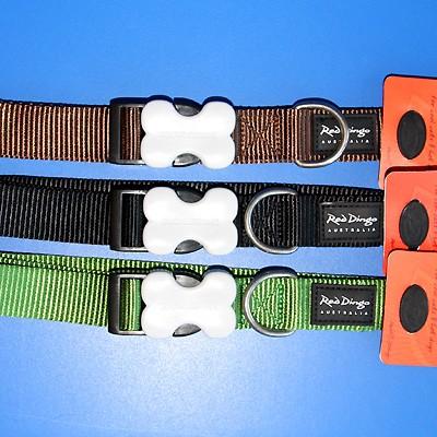 Nylon-Hundehalsband von Red Dingo in schönen Uni-Farben