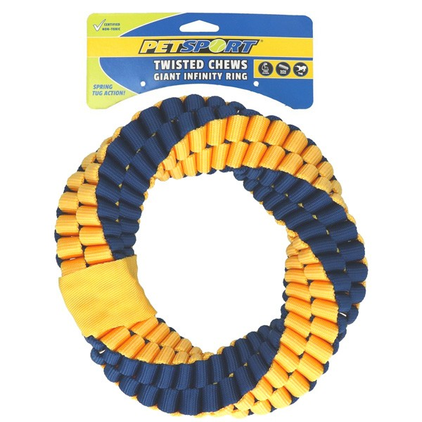 Extra robuster Twisted Chews Giant Infinity Spielring von PetSport