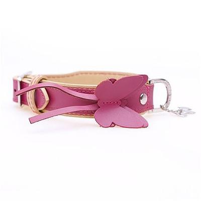 Pink Cream Lederhalsband von Hamish Mc Beth