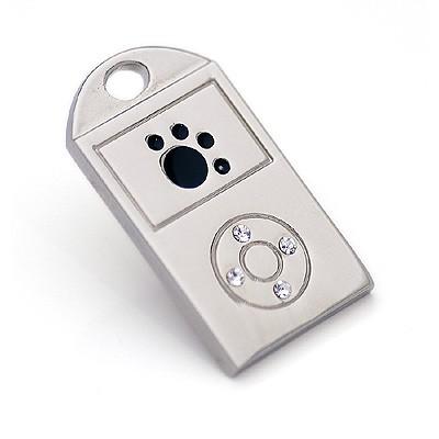 Hunde-Anhänger pawd Player im iPod-Style. Von Hamish McBeth