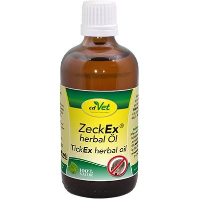ZeckEx Herbal Öl von cdVet unterstützt die Parasitenabwehr