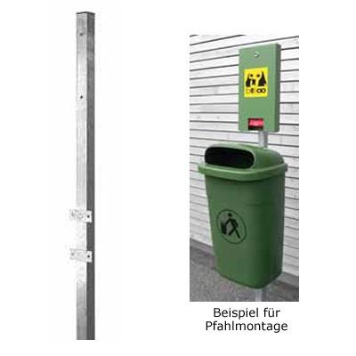 Pfosten für den Abfallbehälter Kunststoff und die Dogstation