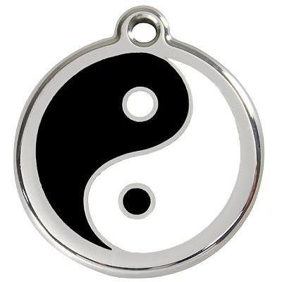 Symbolreicher Yin & Yang Hundehalsband-Anhänger von Red Dingo