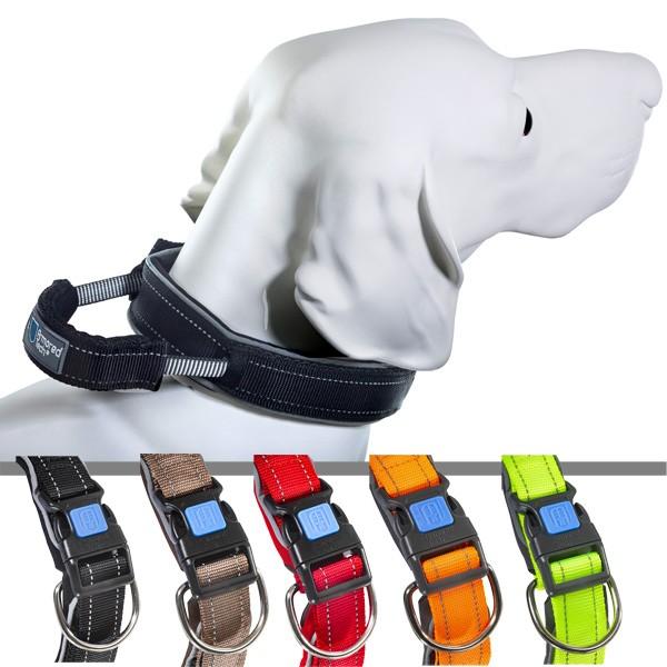 Dog Control gepolstertes Halsband mit herausziehbarer Leine von ArmoredTech