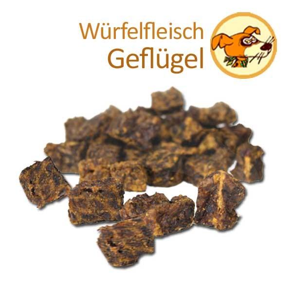 Würfelfleisch Geflügel für Hunde - getrocknet aus 100 % Geflügel