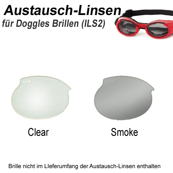 Austausch-Linsen Wechselgläser für Doggles Schutzbrillen für Hunde