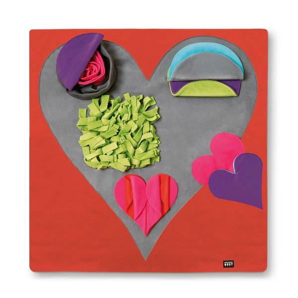 Heart Pad Schnüffeldecke für Vertrauensspiele mit Herz von Knauders Best