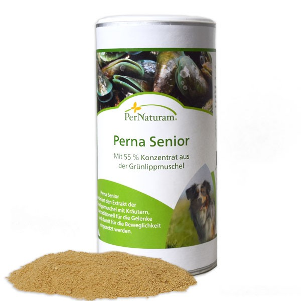 Perna Senior von PerNaturam stärkt die Gelenke älterer Hunde