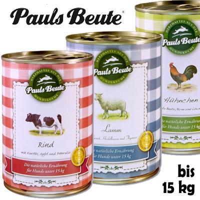 Pauls Beute Qualitäts-Dosenfutter für Hunde bis 15 kg Gewicht