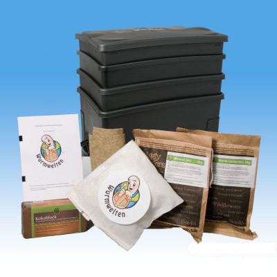 Wurm-Cafe Starter Set als Wurmbox Wurmfarm von Wurmwelten