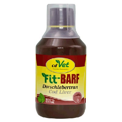 Vitamine und Omega-3-Fette im cdVet Fit-Barf Dorschlebertran