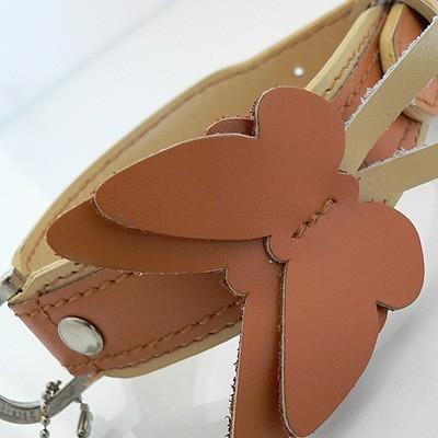 Hamish McBeth Leder-Halsband Butterfly Orange