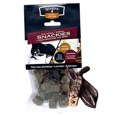 Vital Snackies von QChefs mit Hüttenkäse und Johannisbrot