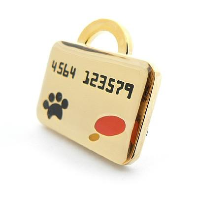 Hunde-Anhänger Credit Card. Von Hamish McBeth